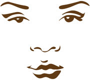 Woman face in line Stock Photography