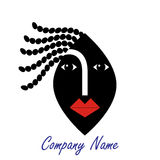 Woman face logo Royalty Free Stock Image