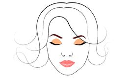 Woman face. With make up Royalty Free Stock Image