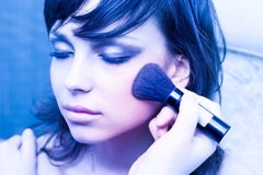 Woman face make-up Stock Photo