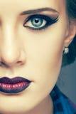Woman face make-up Stock Image