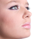Woman face with makeup closeup Royalty Free Stock Photography