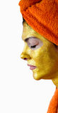 Woman with face mask stock image