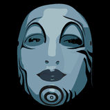Woman face mask royalty free stock photo