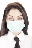 Woman in face mask with big eyes Stock Photography
