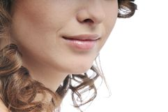 Woman face - mouth and nose detail Royalty Free Stock Photo
