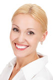 Woman face with a nice smile Royalty Free Stock Photography