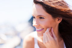 Woman face outdoors Royalty Free Stock Image