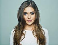 Woman face portrait.  studio. Background Stock Photography