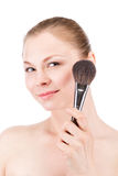 Woman face powders Stock Photography