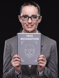 The woman in face recognition concept Royalty Free Stock Photos