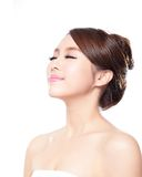 Woman face relax closed eyes Royalty Free Stock Photography