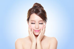 Woman face relax closed eyes Royalty Free Stock Photos