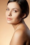 Woman face and shoulder Stock Image
