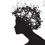 Woman face silhouette Stock Images