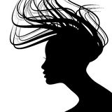 Woman Face Silhouette Stock Photo
