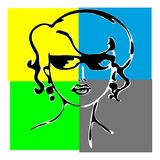 Woman face silhouette Stock Photography