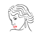 Woman face silhouette. Abstract concept for fashion design Royalty Free Stock Photography