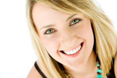 Woman face smiling stock photo