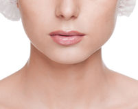 Woman face, before surgery operetion Royalty Free Stock Images