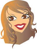 Woman Face Vector design clipart Royalty Free Stock Images