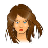Woman face vector illustration Stock Photography