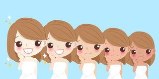 Woman face whitening Stock Photo