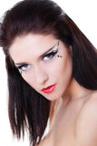 Woman Face With Bright Makeup Stock Images