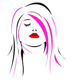 Woman face. Women face illustration suitable for a logo designing projects Royalty Free Stock Image