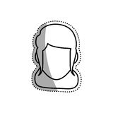 Woman faceless head Royalty Free Stock Image