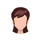 Woman faceless head Royalty Free Stock Photography