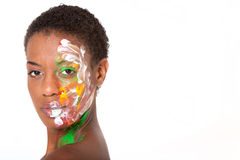 Woman in facepaint Stock Photos