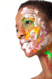 Woman in facepaint Royalty Free Stock Photos