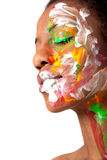 Woman in facepaint Royalty Free Stock Images