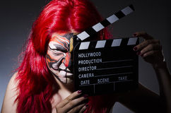 Woman with facepaint Stock Photos