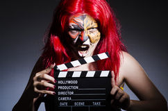 Woman with facepaint Royalty Free Stock Photos