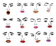 Free Woman Faces Emotion Vector Illustration And Girl Feemale Emoji Icon Cute Character Human Expression Stock Image - 101601141