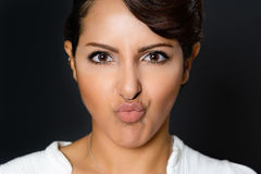 Woman Facial Expression Stock Image