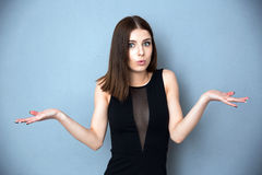 Woman with facial expression of surprise Stock Photos