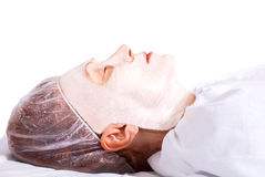 Woman in facial mask Royalty Free Stock Photos