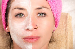 Woman facial treatment Royalty Free Stock Image