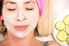 Woman facial treatment Royalty Free Stock Images
