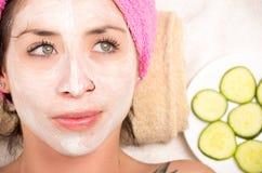 Woman facial treatment Royalty Free Stock Photos