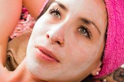 Woman facial treatment Royalty Free Stock Photo