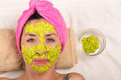Woman facial treatment spa Royalty Free Stock Images