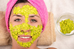 Woman facial treatment spa Stock Photography