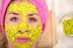 Woman facial treatment spa Royalty Free Stock Photos