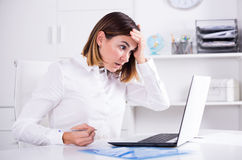 Woman facing challenge Stock Images