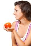 Woman Facing Sideways Fruit Royalty Free Stock Image