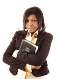 Woman of Faith. This is an image of a woman holding a bible Stock Image